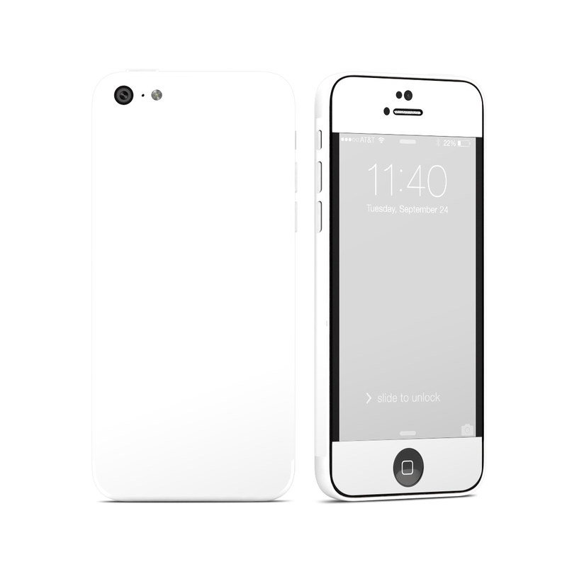 Solid State White iPhone 5c Skin