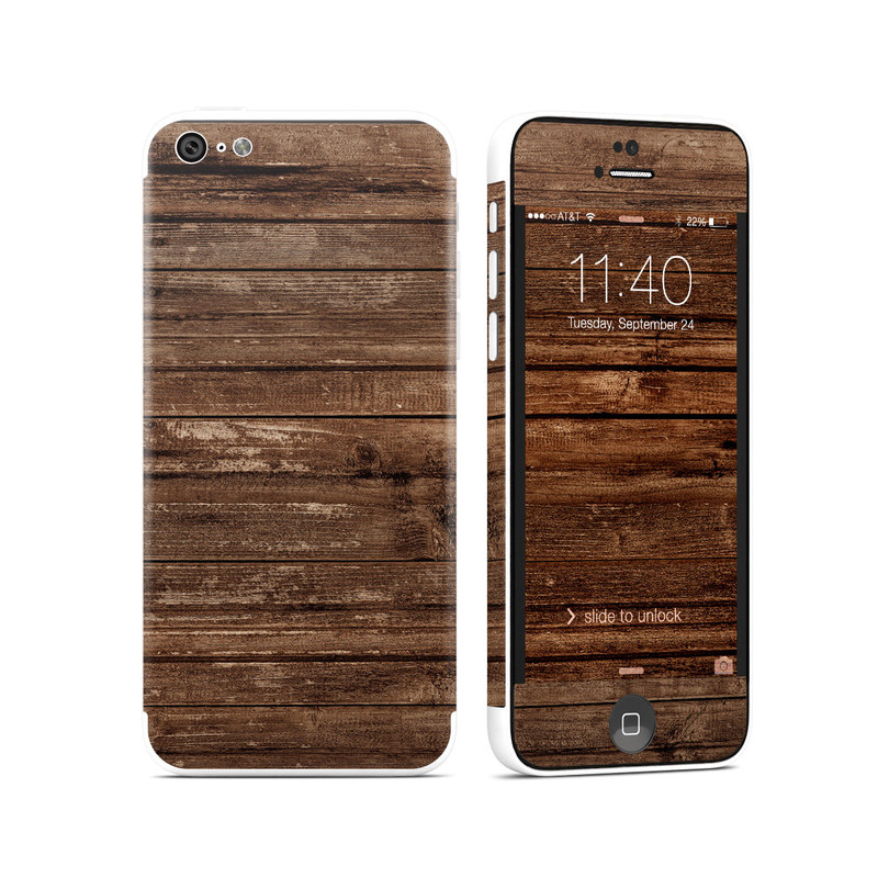 Stripped Wood iPhone 5c Skin