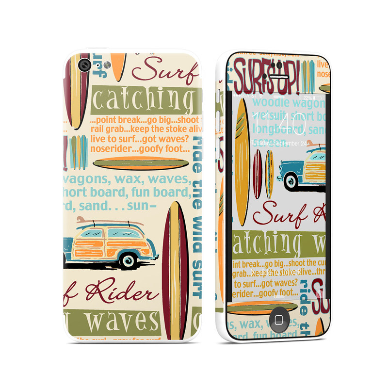Surf Words iPhone 5c Skin