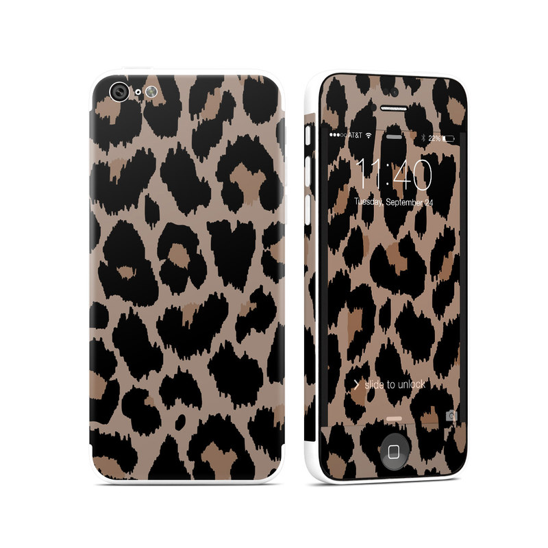 iPhone 5c Skin design of Pattern, Brown, Fur, Design, Textile, Monochrome, Fawn with black, gray, red, green colors
