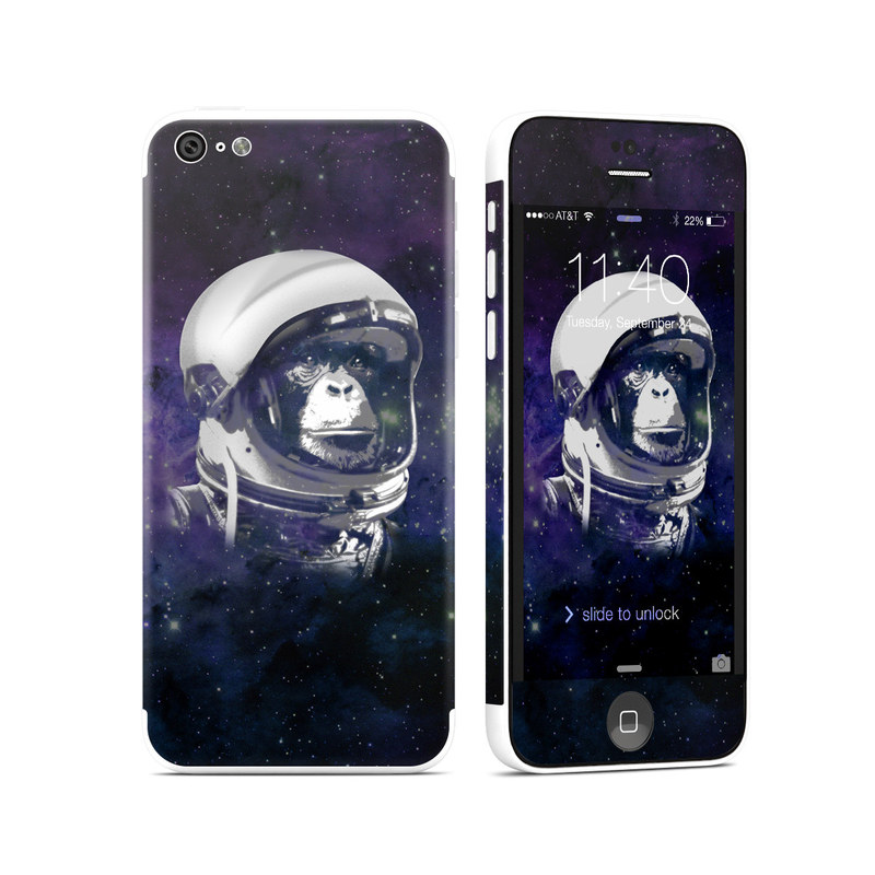 iPhone 5c Skin design of Helmet, Astronaut, Personal protective equipment, Illustration, Space, Outer space, Headgear, Fictional character, Sports gear, Football gear with black, gray, blue, white colors