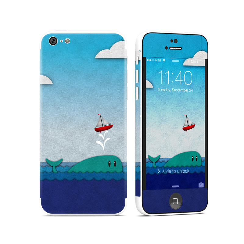 Whale Sail iPhone 5c Skin