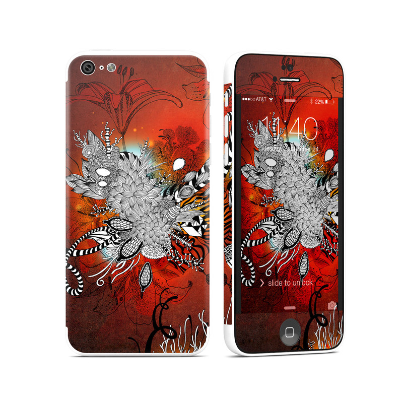 Wild Lilly iPhone 5c Skin