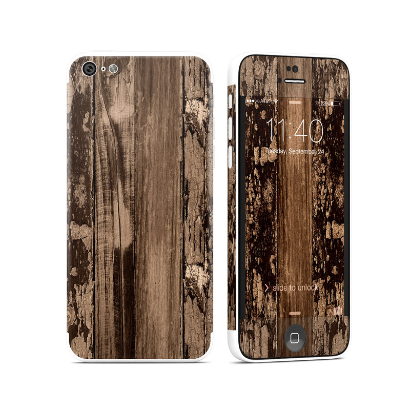 Weathered Wood iPhone 5c Skin