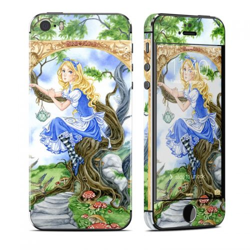 Alice's Tea Time iPhone SE, 5s Skin