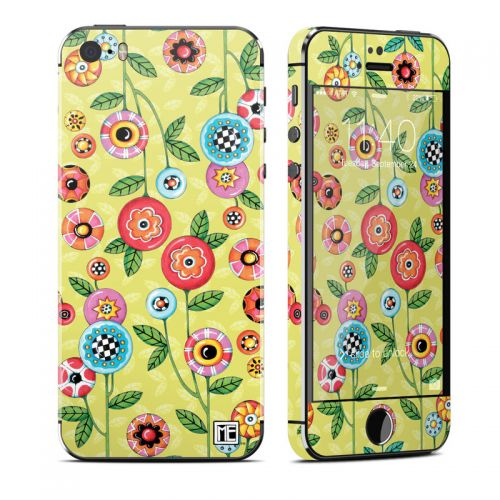 Button Flowers iPhone SE, 5s Skin
