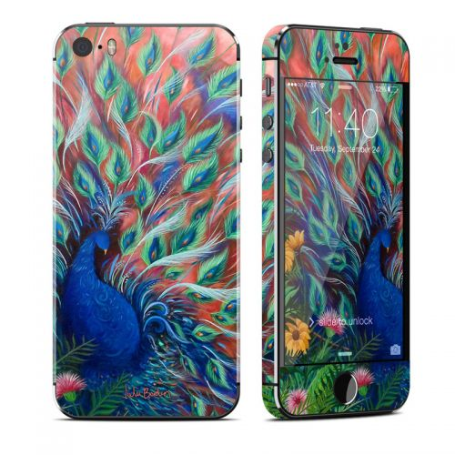 Coral Peacock iPhone SE, 5s Skin