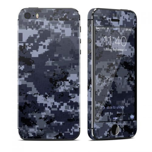 Digital Navy Camo iPhone SE, 5s Skin