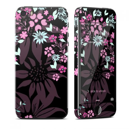 Dark Flowers iPhone SE, 5s Skin