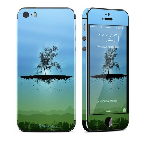 Flying Tree Blue iPhone SE, 5s Skin