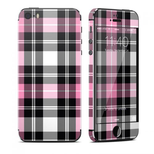 Pink Plaid iPhone SE, 5s Skin