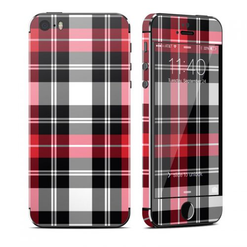 Red Plaid iPhone SE 1st Gen, 5s Skin
