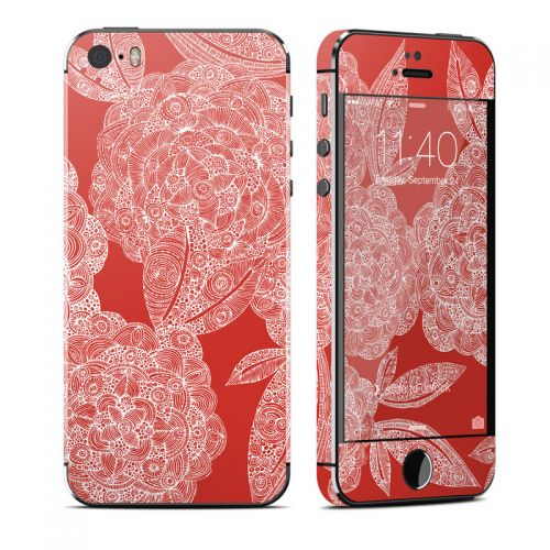 Red Dahlias iPhone SE, 5s Skin