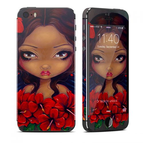 Red Hibiscus Fairy iPhone SE, 5s Skin