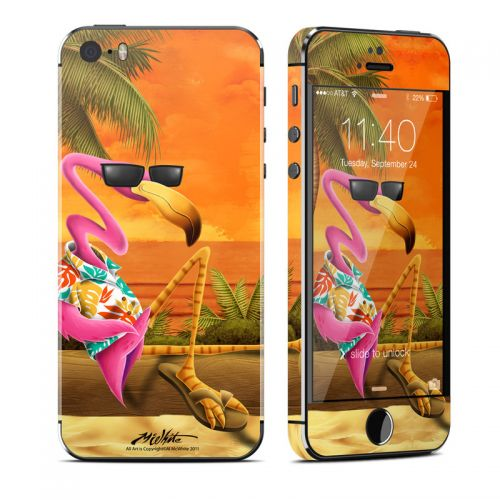 Sunset Flamingo iPhone SE, 5s Skin