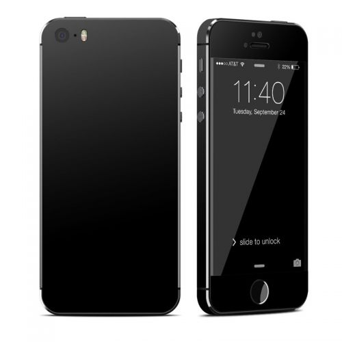 Solid State Black iPhone SE, 5s Skin