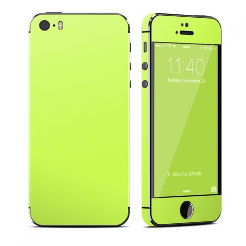 Solid State Lime iPhone SE, 5s Skin