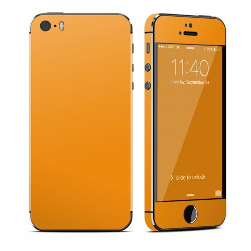 Solid State Orange iPhone SE, 5s Skin