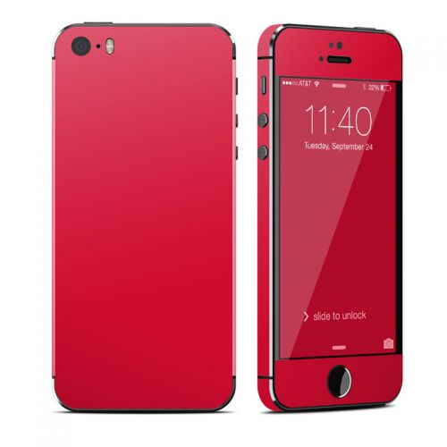 Solid State Red iPhone SE, 5s Skin