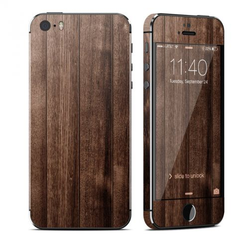 Stained Wood iPhone SE, 5s Skin
