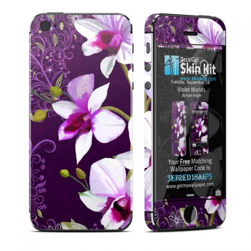 Violet Worlds iPhone SE, 5s Skin