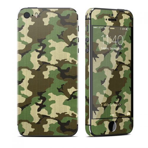 Woodland Camo iPhone SE, 5s Skin