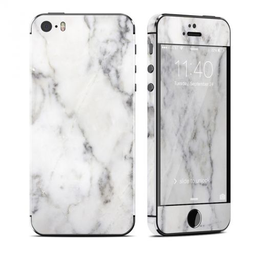 White Marble iPhone SE, 5s Skin