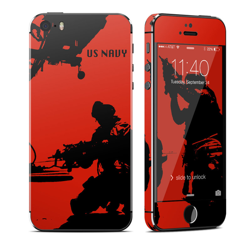 iPhone SE 1st Gen, 5s Skin design of Font, Silhouette, Illustration, Fictional character, Graphic design, Art with red, black colors