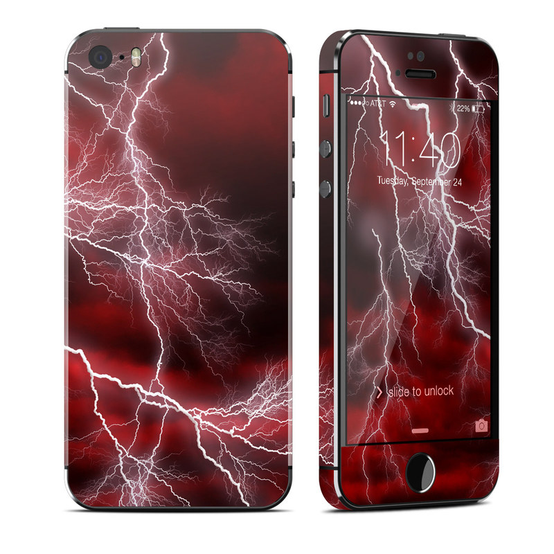 Apocalypse Red iPhone SE, 5s Skin