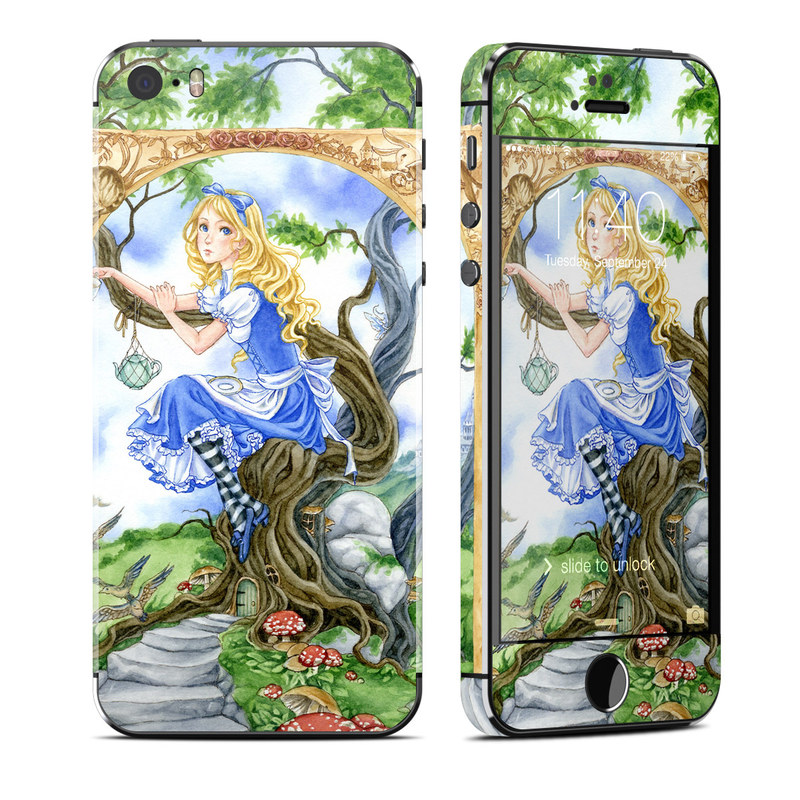 iPhone SE, 5s Skin design of Mythology, Illustration, Fictional character, Cg artwork, Art, Plant, Painting with blue, green, brown, gray, white colors