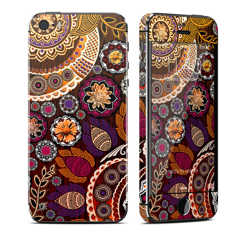 Autumn Mehndi iPhone SE, 5s Skin