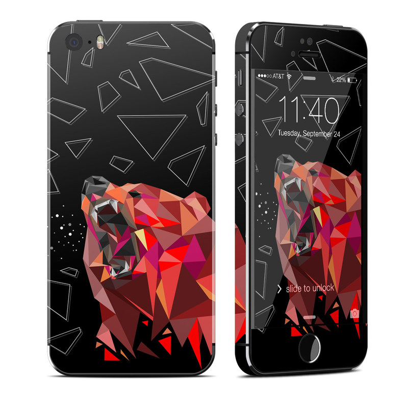 Bears Hate Math iPhone SE, 5s Skin