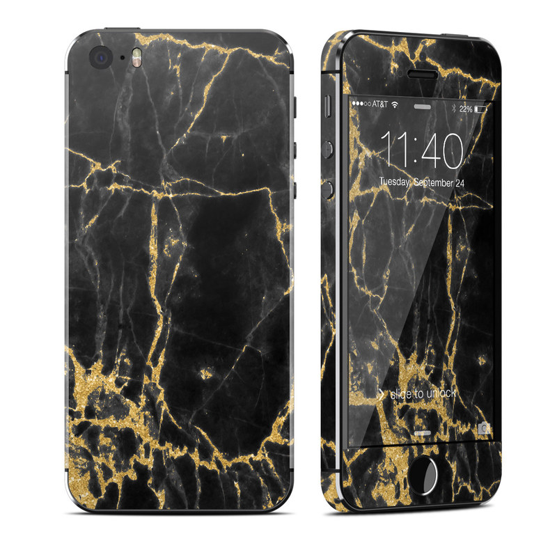 Black Gold Marble iPhone SE, 5s Skin