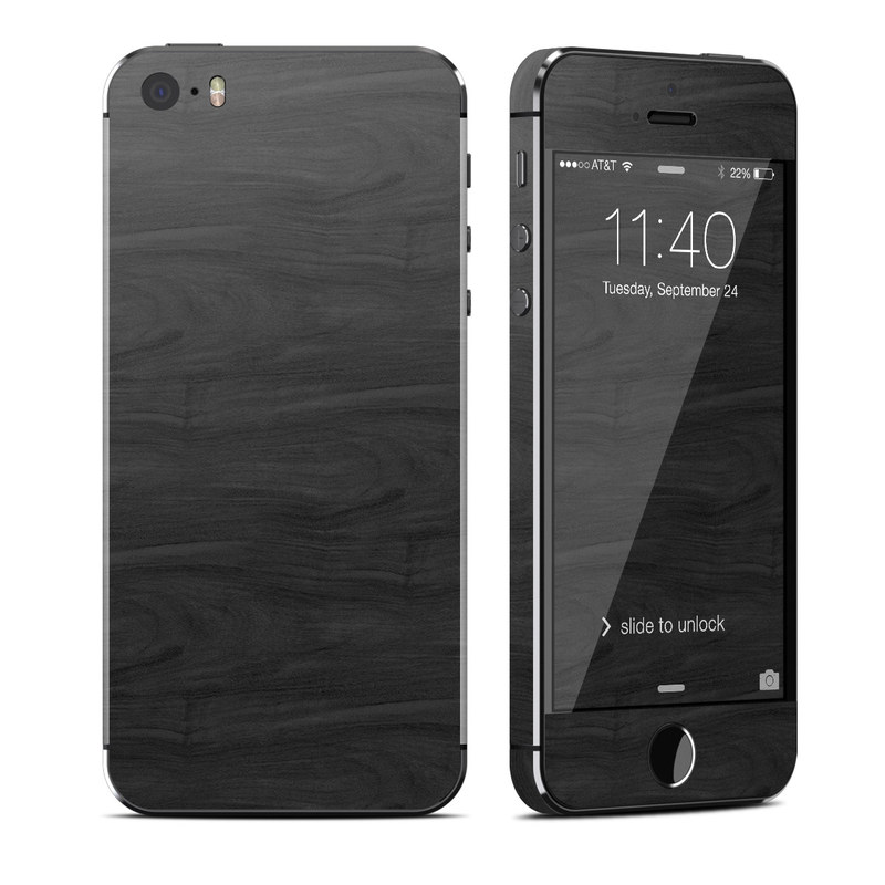 Black Woodgrain iPhone SE, 5s Skin