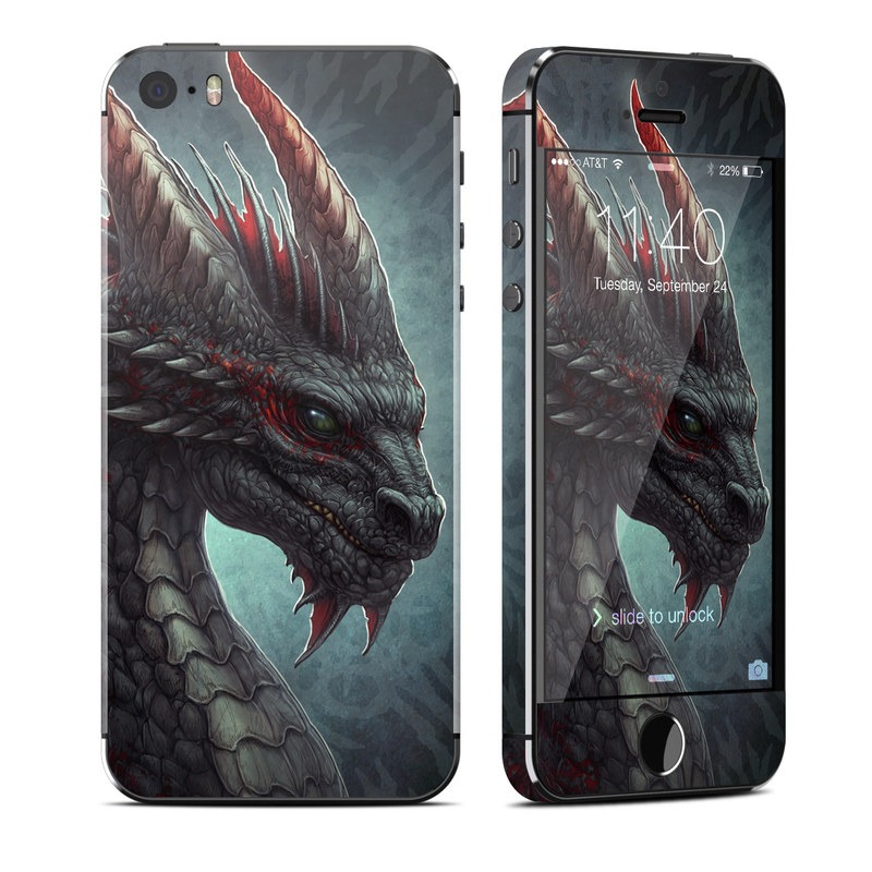 Black Dragon iPhone SE, 5s Skin