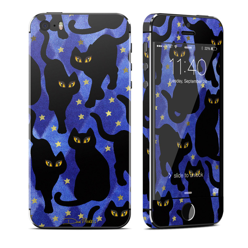 Cat Silhouettes iPhone SE, 5s Skin