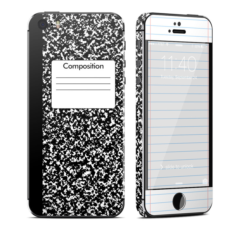 Composition Notebook iPhone SE, 5s Skin
