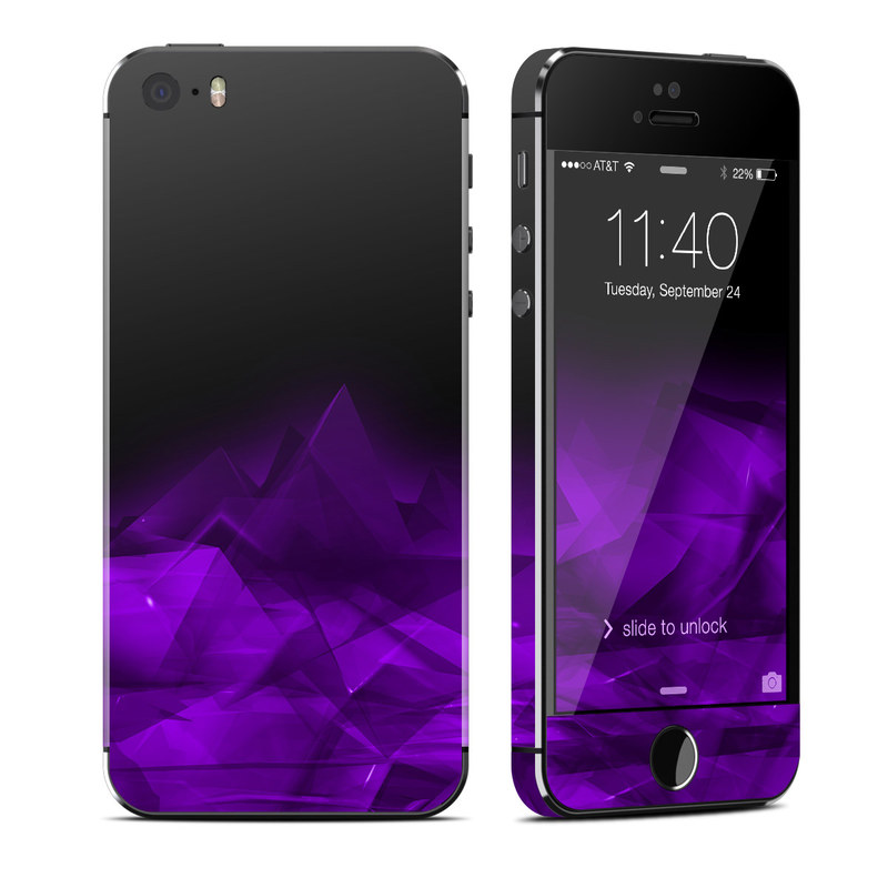 Dark Amethyst Crystal iPhone SE, 5s Skin