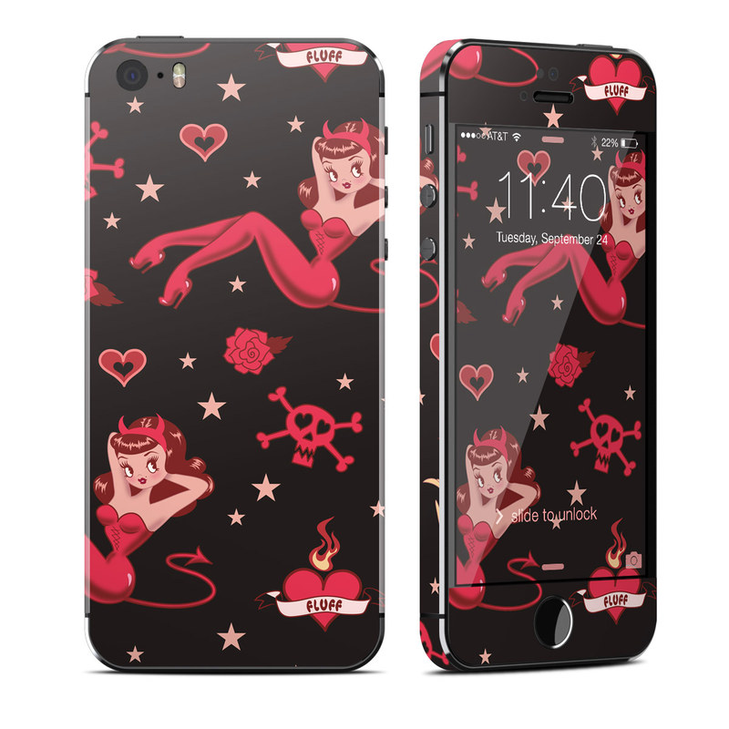 iPhone SE, 5s Skin design of Valentine's day, Heart, Cartoon, Animated cartoon, Illustration, Font, Fictional character, Animation, Love with black, red, gray, pink colors