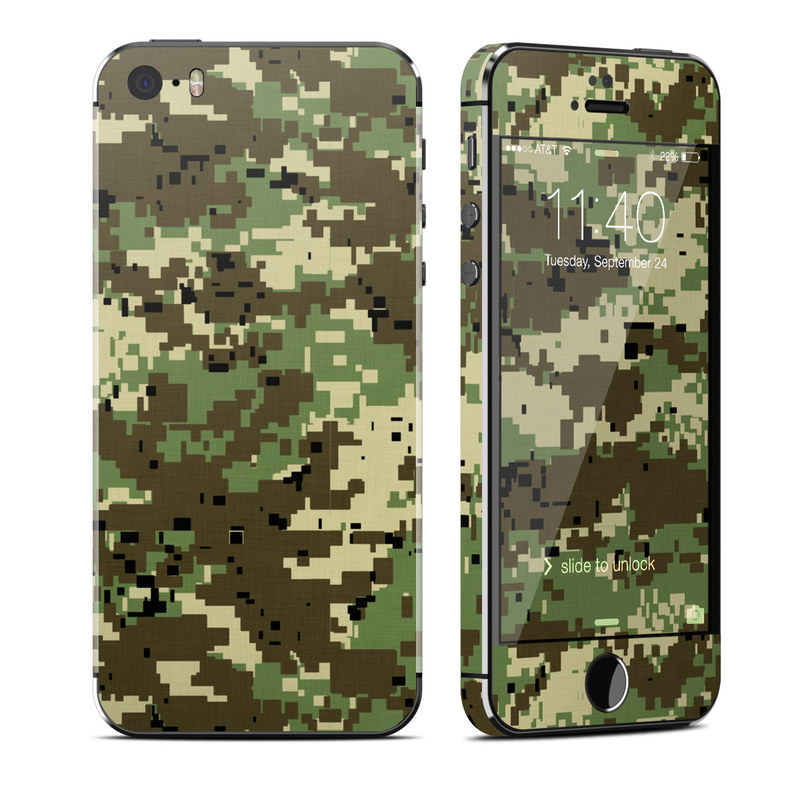 Digital Woodland Camo iPhone SE, 5s Skin