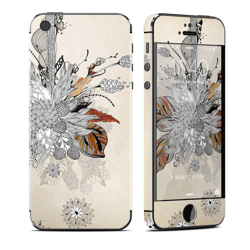 Fall Floral iPhone SE, 5s Skin