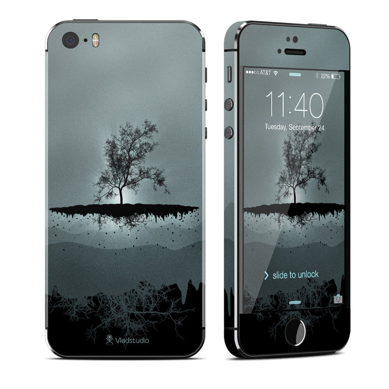 Flying Tree Black iPhone SE, 5s Skin