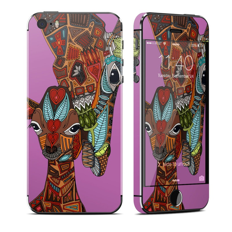 Giraffe Love iPhone SE, 5s Skin