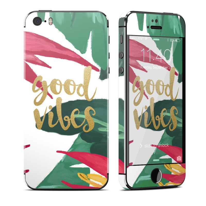 Good Vibes iPhone SE, 5s Skin