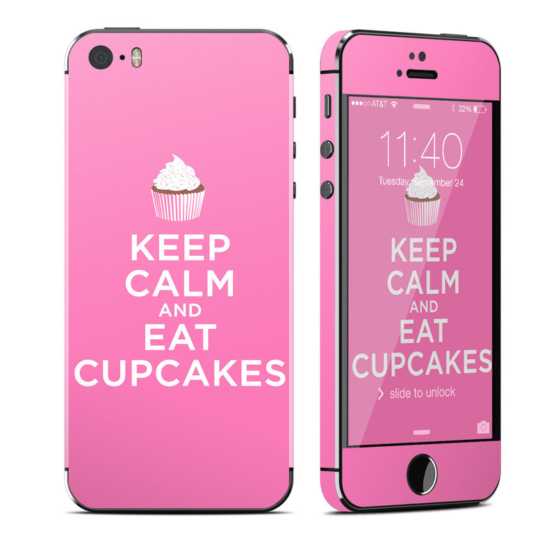 Keep Calm - Cupcakes iPhone SE, 5s Skin