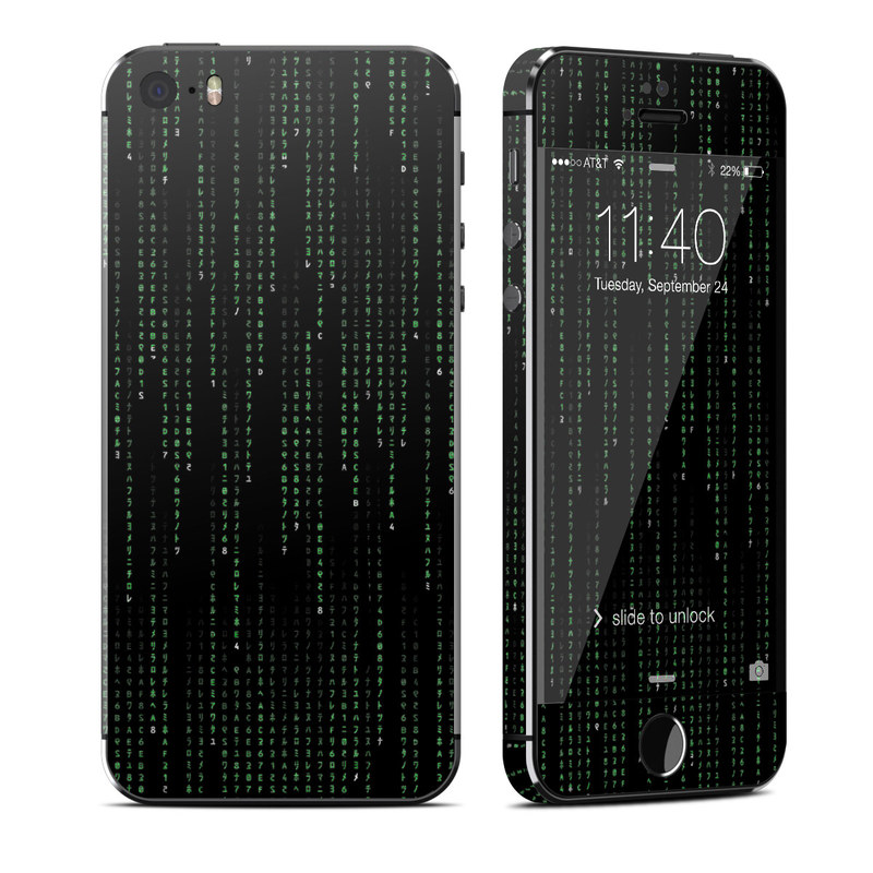 Matrix Style Code iPhone SE, 5s Skin