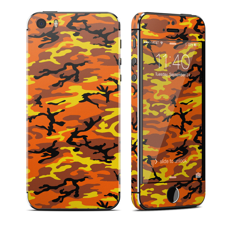 Orange Camo iPhone SE, 5s Skin