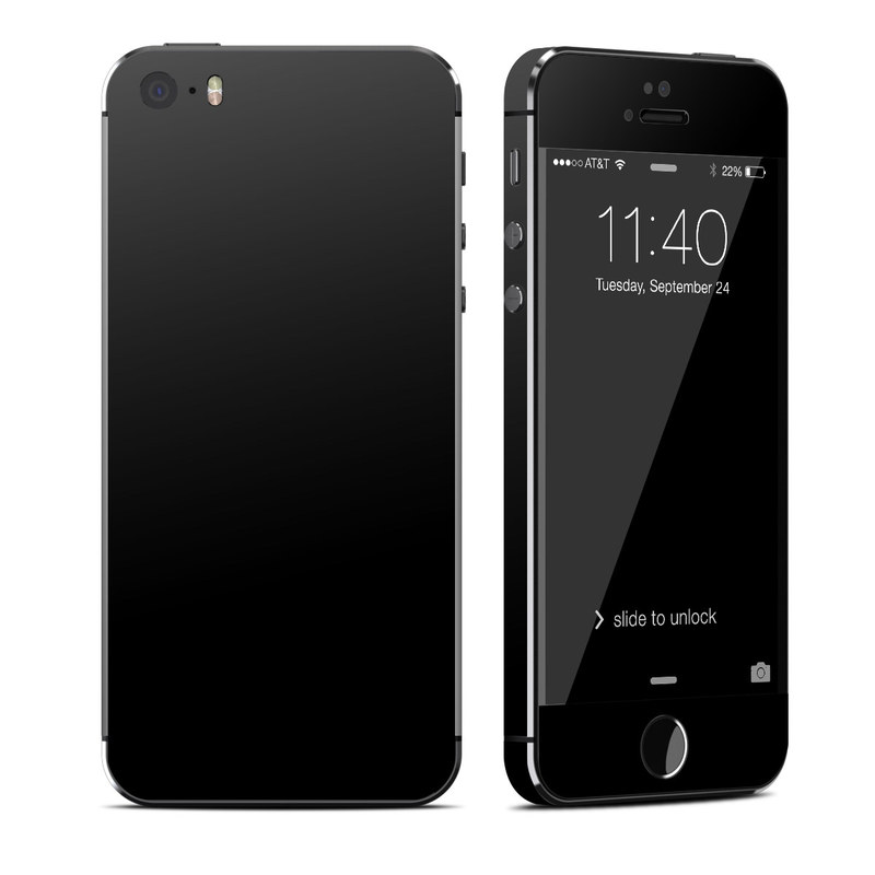 Solid State Black iPhone SE, 5s Skin // iStyles