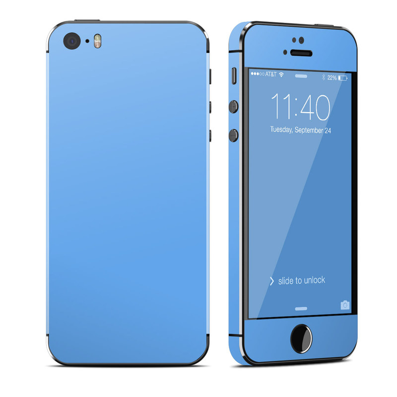 Solid State Blue iPhone SE, 5s Skin