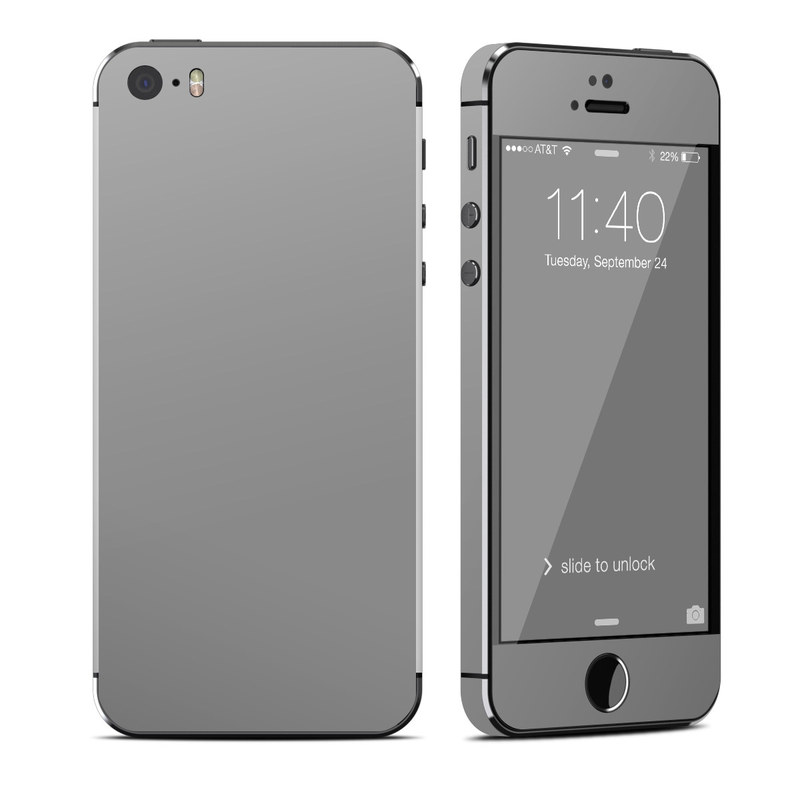 Solid State Grey iPhone SE, 5s Skin
